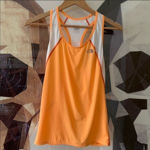 The North Face flight series orange mesh tank top